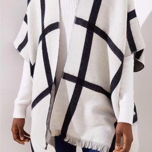 LOFT reversible kimono black/gray/white